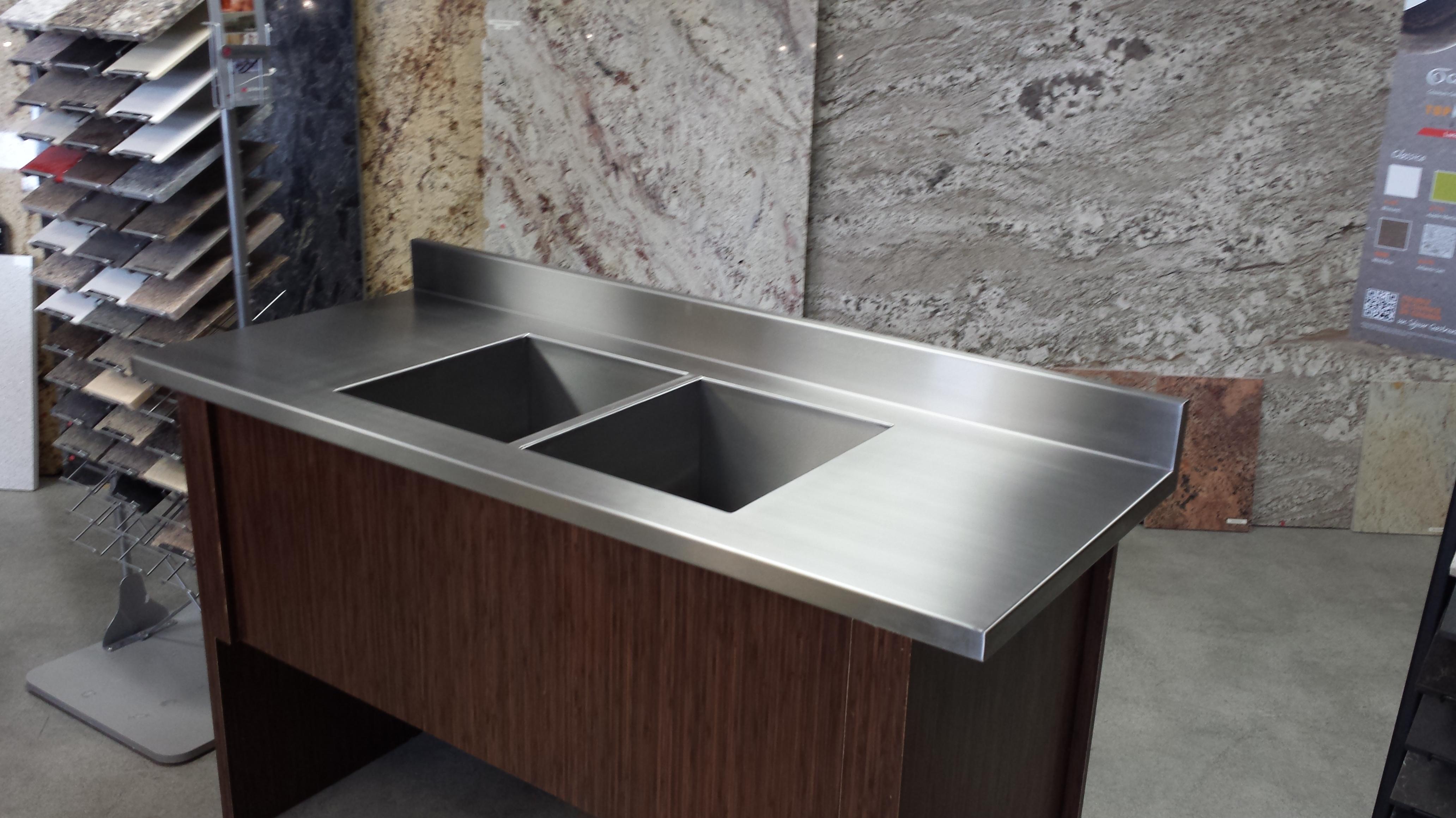 Design evier de cuisine en acier inoxydable 27 reims - Cuisine en kit belgique ...